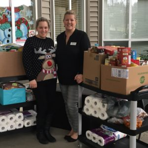 Chartwell Residence family hamper donation 2020