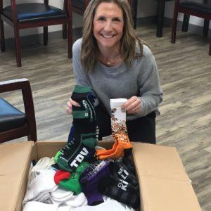 Colleen MEI sock donation Feb 2020