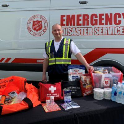 Ian with emergency kit May 2020